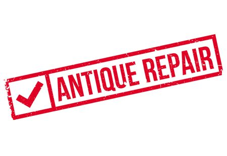 antiquated: Antique Repair rubber stamp. Grunge design with dust scratches. Effects can be easily removed for a clean, crisp look. Color is easily changed.