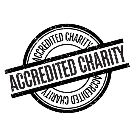 authoritative: Accredited Charity rubber stamp. Grunge design with dust scratches. Effects can be easily removed for a clean, crisp look. Color is easily changed. Illustration