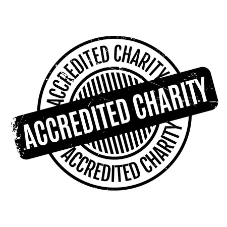 philanthropy: Accredited Charity rubber stamp. Grunge design with dust scratches. Effects can be easily removed for a clean, crisp look. Color is easily changed. Illustration