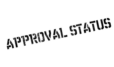 status: Approval Status rubber stamp. Grunge design with dust scratches. Effects can be easily removed for a clean, crisp look. Color is easily changed.