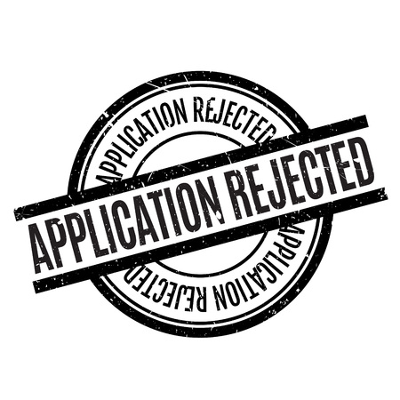 returned: Application Rejected rubber stamp. Grunge design with dust scratches. Effects can be easily removed for a clean, crisp look. Color is easily changed. Illustration