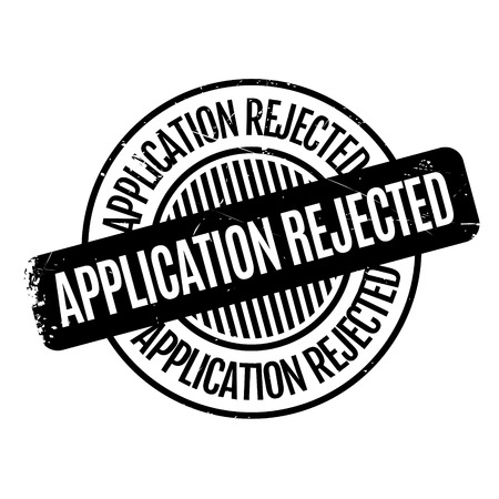 uni: Application Rejected rubber stamp. Grunge design with dust scratches. Effects can be easily removed for a clean, crisp look. Color is easily changed. Illustration