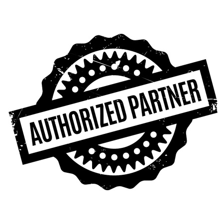 authoritative: Authorized Partner rubber stamp. Grunge design with dust scratches. Effects can be easily removed for a clean, crisp look. Color is easily changed. Illustration