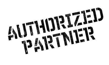 authorized: Authorized Partner rubber stamp. Grunge design with dust scratches. Effects can be easily removed for a clean, crisp look. Color is easily changed. Illustration