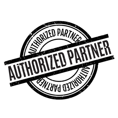 pals: Authorized Partner rubber stamp. Grunge design with dust scratches. Effects can be easily removed for a clean, crisp look. Color is easily changed. Illustration
