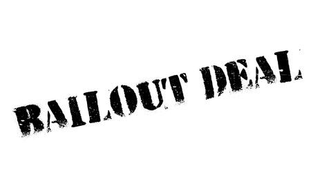 bailout: Bailout Deal rubber stamp. Grunge design with dust scratches. Effects can be easily removed for a clean, crisp look. Color is easily changed.