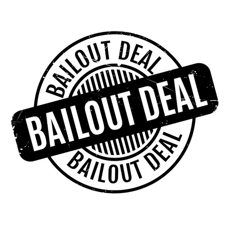 relieve: Bailout Deal rubber stamp. Grunge design with dust scratches. Effects can be easily removed for a clean, crisp look. Color is easily changed.