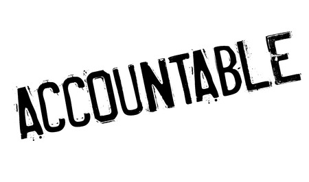 accountable: Accountable rubber stamp. Grunge design with dust scratches. Effects can be easily removed for a clean, crisp look. Color is easily changed. Illustration