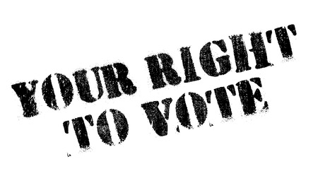 viewpoints: Your Right To Vote rubber stamp. Grunge design with dust scratches. Effects can be easily removed for a clean, crisp look. Color is easily changed.