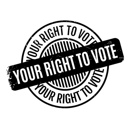 free vote: Your Right To Vote rubber stamp. Grunge design with dust scratches. Effects can be easily removed for a clean, crisp look. Color is easily changed.