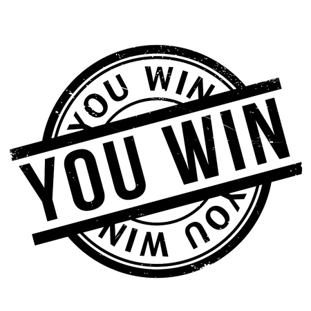 victorious: You Win rubber stamp. Grunge design with dust scratches. Effects can be easily removed for a clean, crisp look. Color is easily changed.