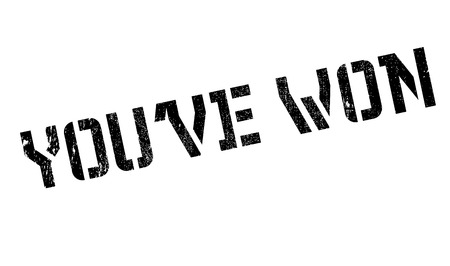 accomplish: Youve Won rubber stamp. Grunge design with dust scratches. Effects can be easily removed for a clean, crisp look. Color is easily changed.