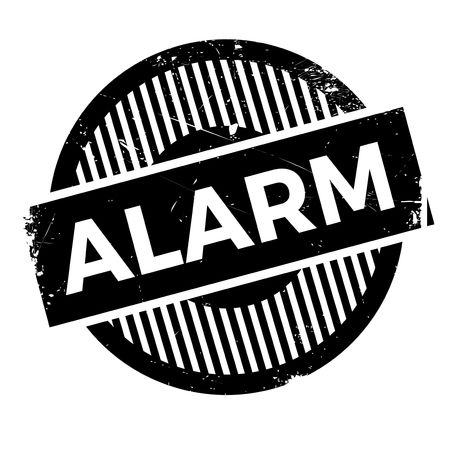 burglar alarm: Alarm rubber stamp. Grunge design with dust scratches. Effects can be easily removed for a clean, crisp look. Color is easily changed. Illustration