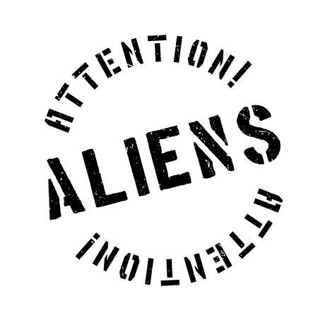 area 51: Aliens rubber stamp. Grunge design with dust scratches. Effects can be easily removed for a clean, crisp look. Color is easily changed.