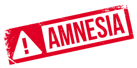 amnesia: Amnesia rubber stamp. Grunge design with dust scratches. Effects can be easily removed for a clean, crisp look. Color is easily changed.