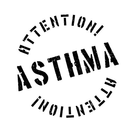 Asthma rubber stamp. Grunge design with dust scratches. Effects can be easily removed for a clean, crisp look. Color is easily changed.