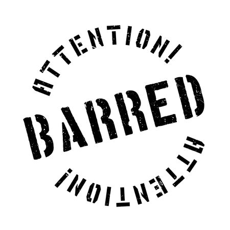 unauthorised: Barred rubber stamp. Grunge design with dust scratches. Effects can be easily removed for a clean, crisp look. Color is easily changed.