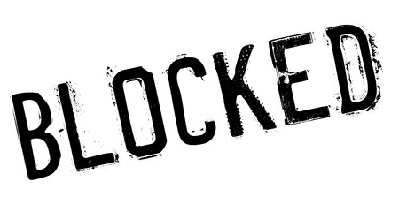 blockade: Blocked rubber stamp. Grunge design with dust scratches. Effects can be easily removed for a clean, crisp look. Color is easily changed.
