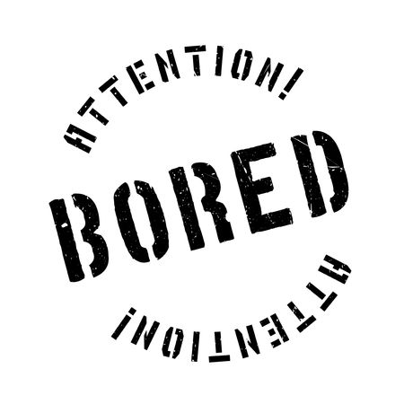 uninterested: Bored rubber stamp. Grunge design with dust scratches. Effects can be easily removed for a clean, crisp look. Color is easily changed.