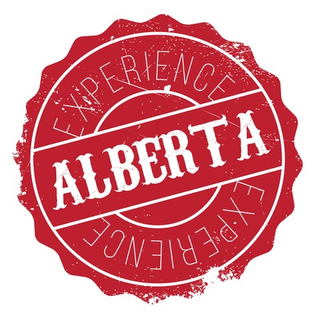 canada stamp: Alberta stamp. Grunge design with dust scratches. Effects can be easily removed for a clean, crisp look. Color is easily changed.
