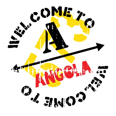 Angola stamp. Grunge design with dust scratches. Effects can be easily removed for a clean, crisp look. Color is easily changed. Illustration