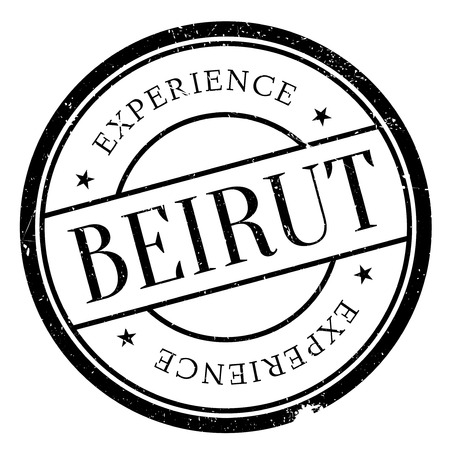lebanese: Beirut stamp. Grunge design with dust scratches. Effects can be easily removed for a clean, crisp look. Color is easily changed.