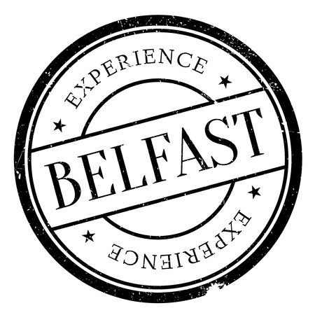 irish cities: Belfast stamp. Grunge design with dust scratches. Effects can be easily removed for a clean, crisp look. Color is easily changed. Illustration