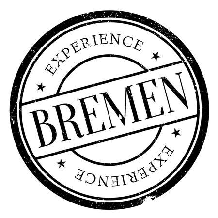 bremen: Bremen stamp. Grunge design with dust scratches. Effects can be easily removed for a clean, crisp look. Color is easily changed.