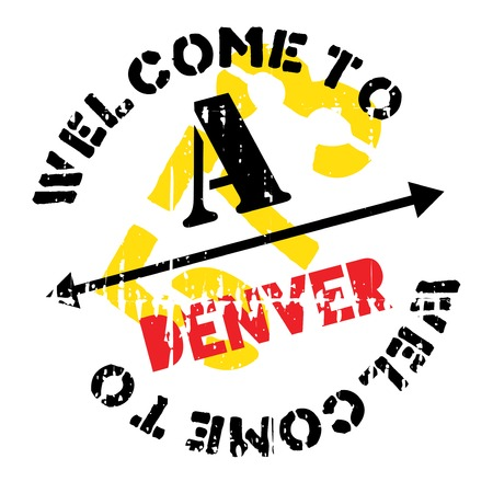 denver: Denver stamp. Grunge design with dust scratches. Effects can be easily removed for a clean, crisp look. Color is easily changed.