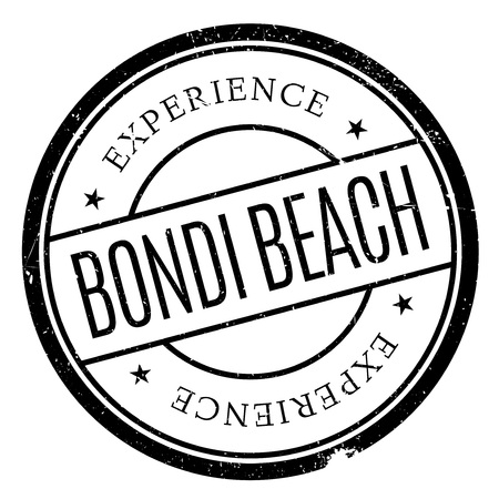 outback: Bondi Beach stamp. Grunge design with dust scratches. Effects can be easily removed for a clean, crisp look. Color is easily changed.