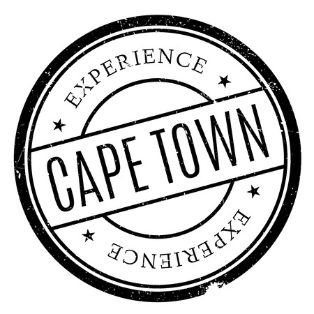 western town: Cape Town stamp. Grunge design with dust scratches. Effects can be easily removed for a clean, crisp look. Color is easily changed. Illustration