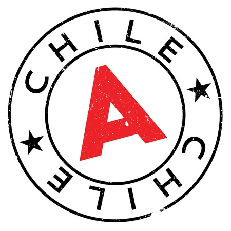Chile stamp. Grunge design with dust scratches. Effects can be easily removed for a clean, crisp look. Color is easily changed.