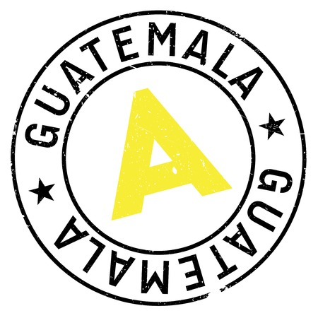 Guatemala stamp. Grunge design with dust scratches. Effects can be easily removed for a clean, crisp look. Color is easily changed. Illustration