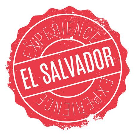 bandera de el salvador: sello de El Salvador. Diseño de Grunge con los rasguños polvo. Los efectos se pueden quitar fácilmente para una apariencia limpia y nítida. En color se cambia fácilmente. Vectores