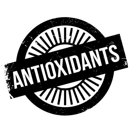 vivo: Antioxidants stamp. Grunge design with dust scratches. Effects can be easily removed for a clean, crisp look. Color is easily changed. Stock Photo