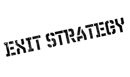 escape plan: Exit Strategy rubber stamp. Grunge design with dust scratches. Effects can be easily removed for a clean, crisp look. Color is easily changed. Stock Photo