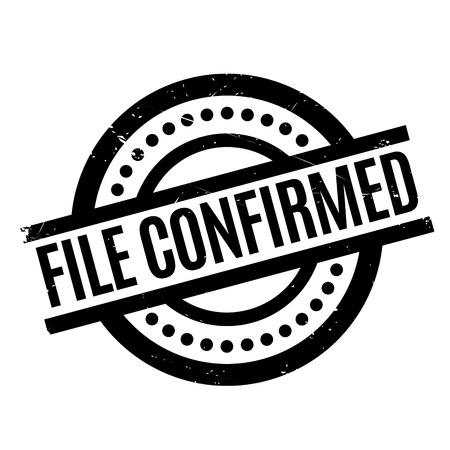 File Confirmed rubber stamp. Grunge design with dust scratches. Effects can be easily removed for a clean, crisp look. Color is easily changed. Stock Photo