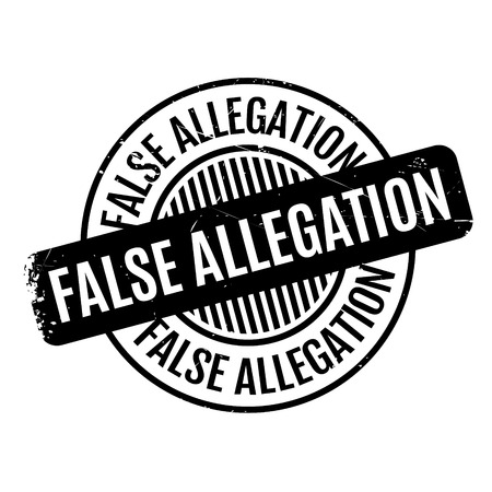 bogus: False Allegation rubber stamp. Grunge design with dust scratches. Effects can be easily removed for a clean, crisp look. Color is easily changed. Stock Photo