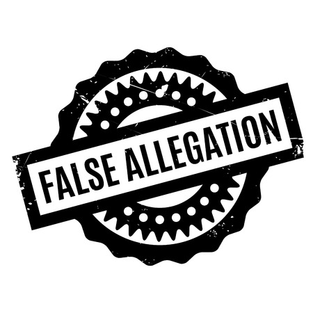 true or false: False Allegation rubber stamp. Grunge design with dust scratches. Effects can be easily removed for a clean, crisp look. Color is easily changed. Stock Photo