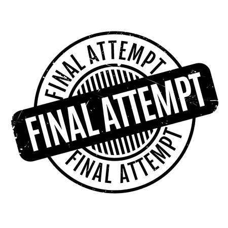 conclusive: Final Attempt rubber stamp. Grunge design with dust scratches. Effects can be easily removed for a clean, crisp look. Color is easily changed. Stock Photo