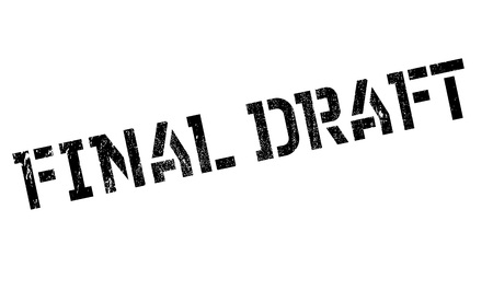 Final Draft rubber stamp. Grunge design with dust scratches. Effects can be easily removed for a clean, crisp look. Color is easily changed. Stock Photo