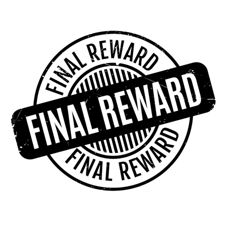 conclusive: Final Reward rubber stamp. Grunge design with dust scratches. Effects can be easily removed for a clean, crisp look. Color is easily changed.