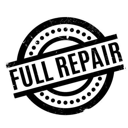 Full Repair rubber stamp. Grunge design with dust scratches. Effects can be easily removed for a clean, crisp look. Color is easily changed. Stock Photo