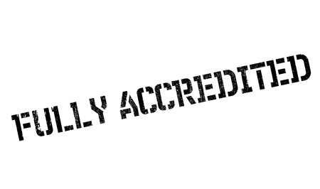 authoritative: Fully Accredited rubber stamp. Grunge design with dust scratches. Effects can be easily removed for a clean, crisp look. Color is easily changed. Stock Photo