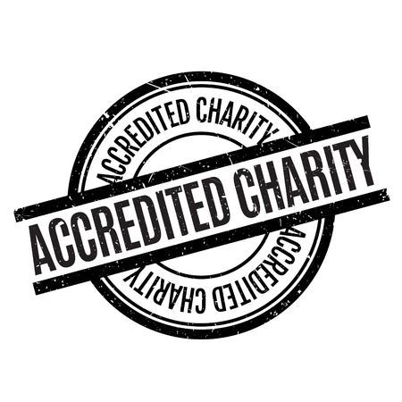 canonical: Accredited Charity rubber stamp. Grunge design with dust scratches. Effects can be easily removed for a clean, crisp look. Color is easily changed. Stock Photo