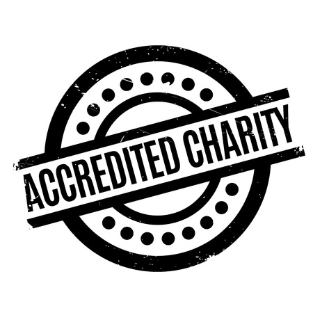 authoritative: Accredited Charity rubber stamp. Grunge design with dust scratches. Effects can be easily removed for a clean, crisp look. Color is easily changed. Stock Photo