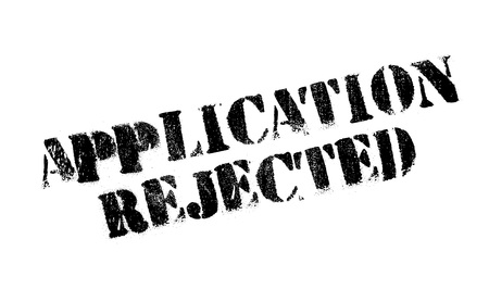 Application Rejected rubber stamp. Grunge design with dust scratches. Effects can be easily removed for a clean, crisp look. Color is easily changed. Stock Photo