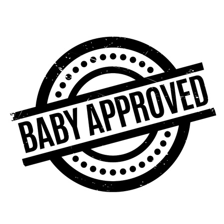 Baby Approved rubber stamp. Grunge design with dust scratches. Effects can be easily removed for a clean, crisp look. Color is easily changed. Stock Photo