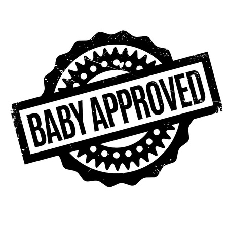 affirmative: Baby Approved rubber stamp. Grunge design with dust scratches. Effects can be easily removed for a clean, crisp look. Color is easily changed. Stock Photo