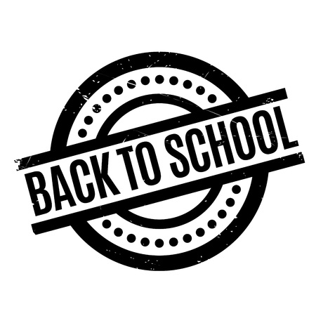 Back To School rubber stamp. Grunge design with dust scratches. Effects can be easily removed for a clean, crisp look. Color is easily changed. Stock Photo